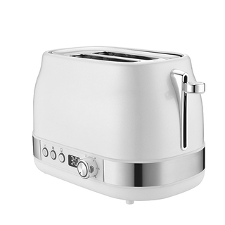 2-Slice Toaster Stainless Steel Toaster with LED Display 6 Bread Shade Setting Wide Slot