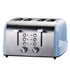 4-Slice Toaster Stainless Steel Toaster with 6 Bread Shade Setting Wide Slot