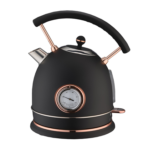 Electric Kettle 1.8L Retro Style Stainless Steel Water Kettle Cordless Electric Teapot with LED Indicator