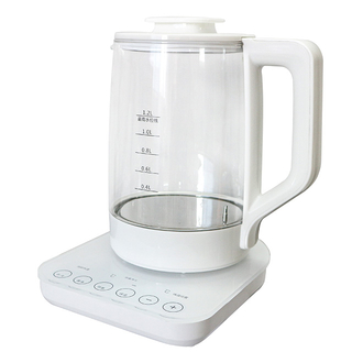 Electric Kettle 1.2L Electric Milk Modulator Glass Water Kettle Multy-Use Cordless Digital Kettle