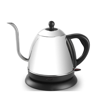 Electric Kettle 1.0L Gooseneck Pour Over Kettle for Coffee & Tea Stainless Steel Teapot