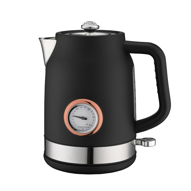Electric Kettle 1.7L Retro Style Stainless Steel Water Kettle for Tea & Coffee